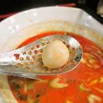 らーめん 麺の月 - スープの中にうずらが!
