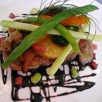 洋食舎けやき - 地鶏のステーキ バルサミコソースUP
