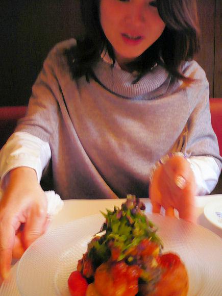 サラマンジェ ドゥ カジノ - お皿の方向を変えてくれた