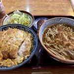 高砂 - 料理写真:カツ丼セット かけ 1,150円