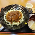 寒山 - 牛肉100%ビックメンチカツ丼