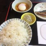 割烹かみのほ - モンブランホテルの朝食 左半分