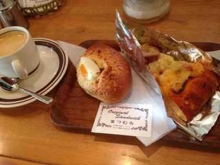サンドウィッチパーラーまつむら - 半熟卵カレー、カットピザ、コーヒー
