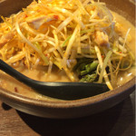 麺場 田所商店 - 長ネギ、山菜が山盛り
