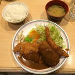 洋食屋 双平 - エビミントン定食¥1,100