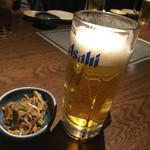 北の味紀行と地酒 北海道 - 生中。小さめ