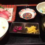 北陸集らく - 金沢産 天然ブリのお刺身定食