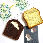 オキーフ - テイクアウト レモンポピーシードパウンドケーキ チョコとクリームチーズのパウンドケーキ