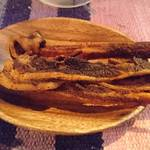 OUTDOOR STYLE KITCHEN 松の木食堂 - お通し    自家製ポークジャーキー