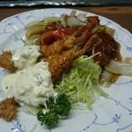 宝来 - 海老フライと酢豚
