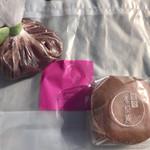 62623695 - 黒糖どら焼き 195円(税込)                       小豆こぼれ 249円(税込)