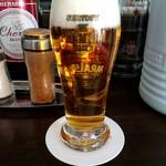 極鶏.Bar - グラスビール