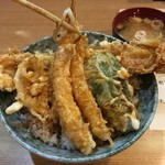 はちまき - 穴子海老天丼