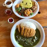 ギボン亭 - 料理写真:カピバラさんメキシカンファイヤー と サボテングリーンカツカレー