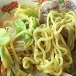 三和食堂 - 太めストレート中華麺系