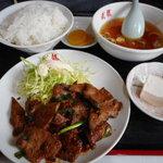 武龍 - レバー炒め定食 630円