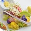 大津グリル - 料理写真:滋賀県産と福岡県久保田農園産の珍しい野菜のオードブル