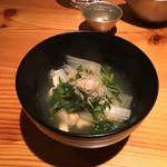62637052 - 京菜と揚げの温かいお浸し
