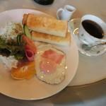 クロエコーヒーハウス - 終日提供のモーニングセット、550円(税込)