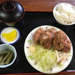 桂や - 鶏唐揚定食830円