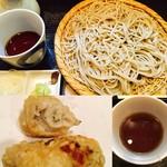 手打蕎麦 松永 - 牡蠣天そば(冷)
