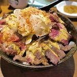 1ポンドのステーキハンバーグ タケル - ほどなくして、「肉馬し盛」1270円が着丼。