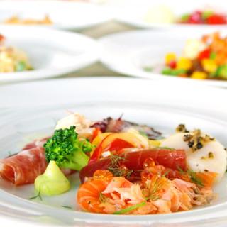 洗練さと優雅さを兼ね備えた特別なコース料理