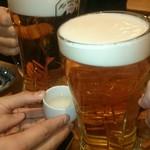 62650496 - 乾杯、手前が男前大ジョッキ(2017.2)