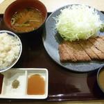 京都勝牛 - 今回食べた特選ロース牛カツ膳1280円(税別)
