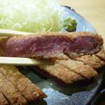 京都勝牛 - 薄い衣はサクッ!お肉はミディアムレア♪