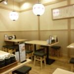 京都勝牛 - 落ち着いた店内。ピンボケですみません(;^ω^)