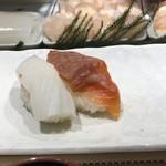神田江戸ッ子寿司 - イカ、漬けサーモン