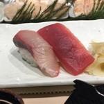 神田江戸ッ子寿司 - マグロ赤身とカンパチ