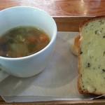 チャヤ ジャルディーノ シロヤマ - スープとパンup