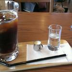 カフェ&フラワー 花てらす - アイスコーヒー  ランチ+200円     猫ちゃん伝票ホルダー