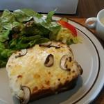 ニワカフェ - 料理写真:自家製ブリオッシュを使ったクロックムッシュ