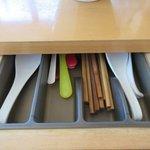 JAZZ麺 2.7 - お箸はテーブルの引き出しに(笑)