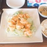 中國麺飯食堂 祥龍房 - 4.マヨ蝦定食(700円)【平成29年2月15日】