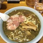 ○鐵二代目 - 極煮干し 大盛 太麺 背脂増し