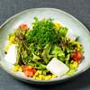 九条ネギのせ豆腐ごまサラダ