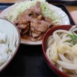 柳原うどん - 焼き肉定食 並 650円