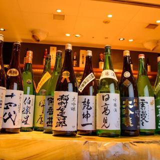 地元、宮城や東北の地酒を多数ご用意