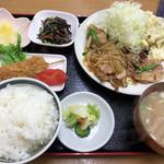 あさひ食堂 - 料理写真:焼肉定食 750円