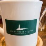 ライトハウスコーヒー - マグカップはお店のロゴ入り。カワイイ。