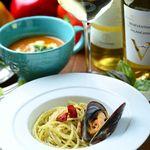 【一番人気】濃厚魚介のクリーミービスクつけ麺ペペロンチーノ