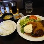 洋食屋グリルCoCCo - ハンバーグ、一口カツ、サカナフライのランチ