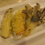 レストラン白根 - 天ぷら(舞茸、南瓜、茄子)