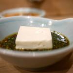 味満ん - てっちりの豆腐