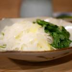 味満ん - てっちりの野菜