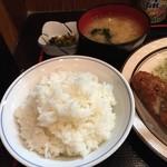 三河屋 - H29.2 ライス・味噌汁・お新香付き